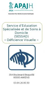 Première page de la plaquette du SESSAD DV