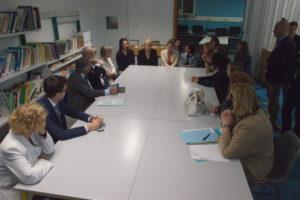 échanges Mme Cluzel - équipes des unités de scolarisation