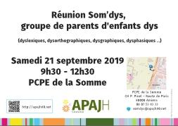 réunion somdys 21 septembre 2019