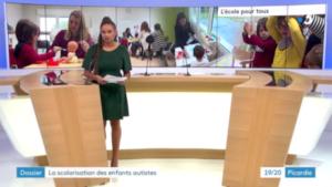 Capture d'écran du lancement du reportage