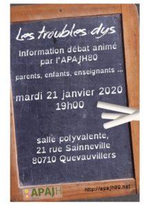 affiche réunion du 21 janvier 2020