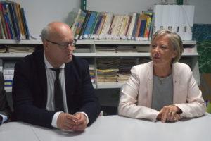 Mme Cluzel Secrétaire d'État chargée des Personnes handicapéeset M Lorenzo, président de l'APAJH80