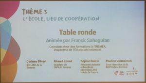 intervenants de la table ronde